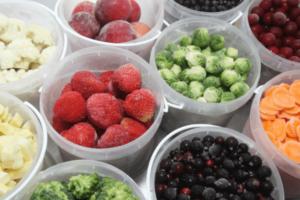 新鮮なフルーツ、野菜を急速冷凍フレッシュな美味しさをそのまま